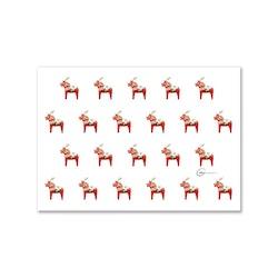 Vykort - Dalahästar som Rudolf A6