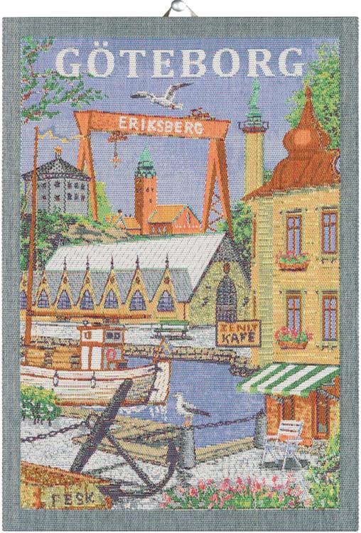 Göteborg handduk 35X50, 100% Ekologisk Bomull