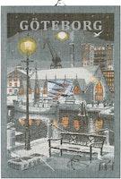 Göteborg natt, handduk 35X50, 100% Ekologisk Bomull