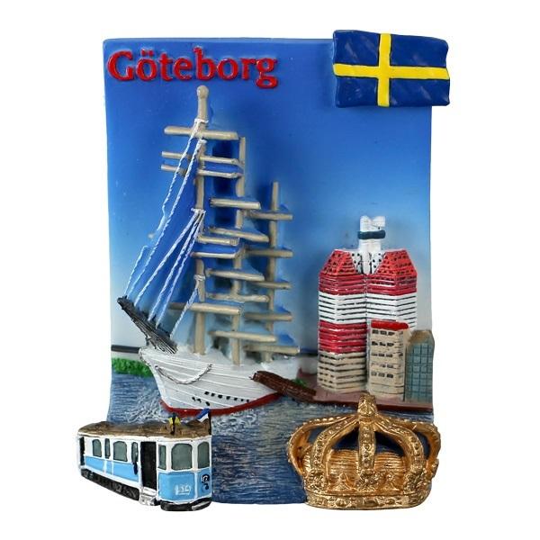 Magnet Göteborg collage med krona