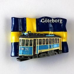 Magnet Göteborg spårvagn/flagga