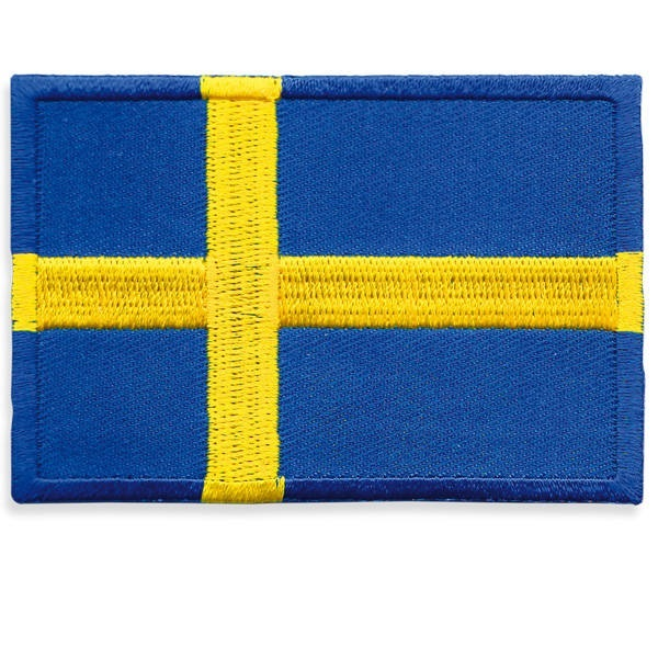 Broderat tygmärke Svensk Flagga 7x5 cm