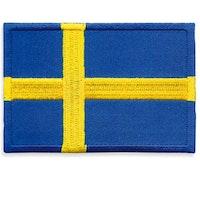 Broderad Svensk Flagga 7 cm