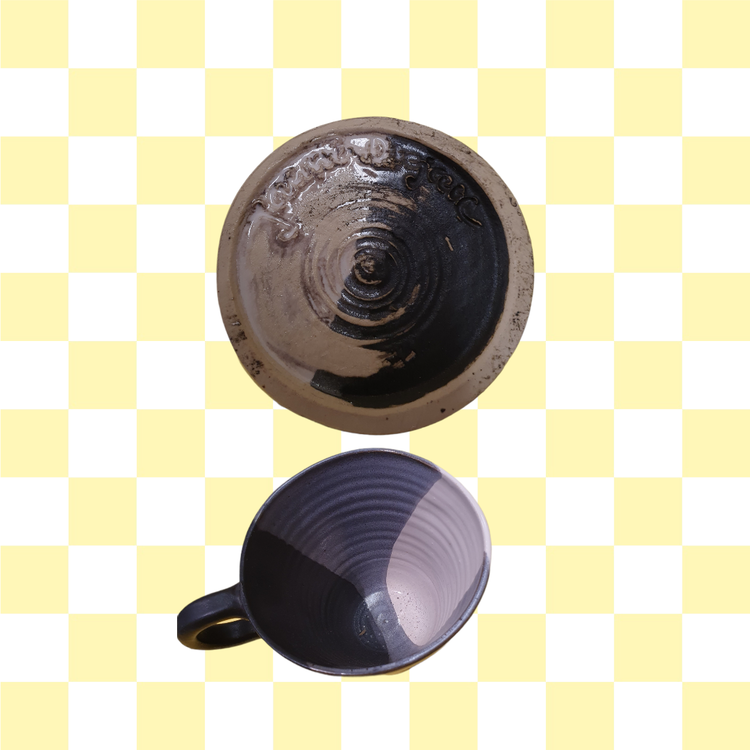 Svensk keramik mugg med handtag