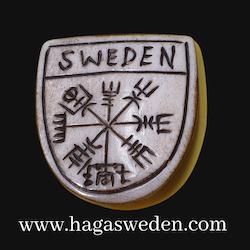 Magnet 'Viking Symbol' Handmade from Bone