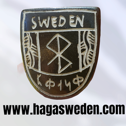 Magnet 'Viking Symbol' Handmade from Bone