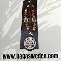 Halsband 'TREE OF LIFE' Handmade from Bone