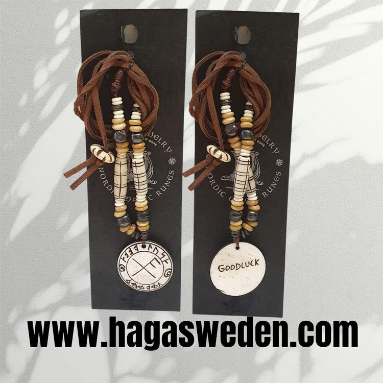 Halsband 'VIKING SYMBOL' Handmade from Bone