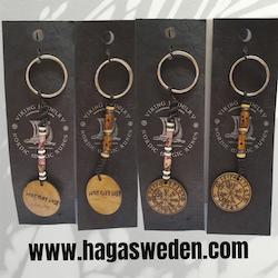 Nyckelring 'Vikking Symbol'  Handmade from Bone