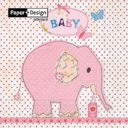 Lunchservett, Baby Elefant