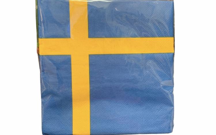 Lunchservett, Swedish Flagg