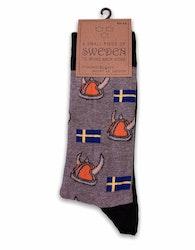 Strumpor vikingahjälm/Sverige flagga