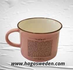 Mugg- Memoriz, Dala Horse Classic, Smal, With Story, Pink