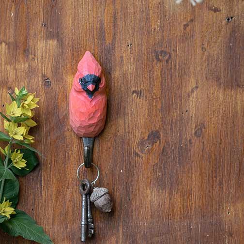 Handsnidad Krok Röd Kardinal