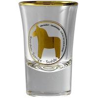 Shotglas Dalahäst, guld