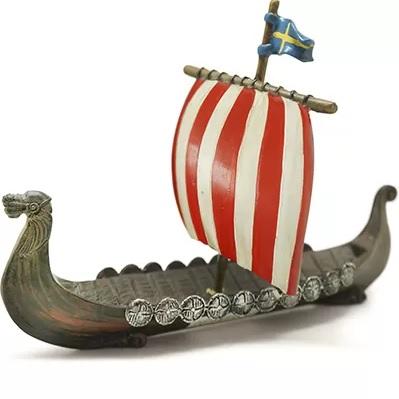 Vikingaskepp figur röd