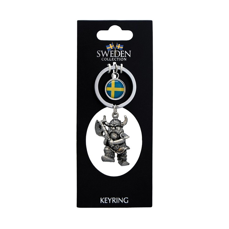 Nyckelring 3D viking med yxa