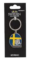 Nyckelring Metall, Vikingaskepp / flagga