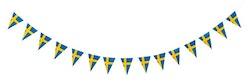 Triangel girlang Svensk flagga