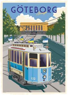 Postcard:  Tramp Göteborg Avenyn, 13x18cm