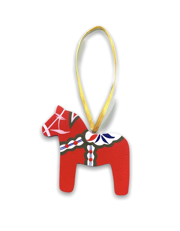 Julgranshänge Dalahäst röd