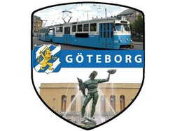 Dekal Göteborg, spårvagn och Poseidon, Gbg vapen