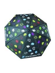 Paraply hopfällbart, älg