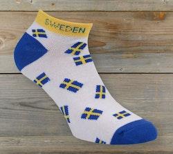 Ankelsocka med Sverige flaggor