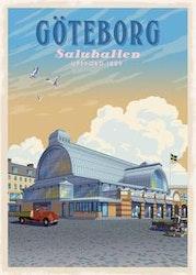 Postcard:  Saluhallen Göteborg, 13x18cm