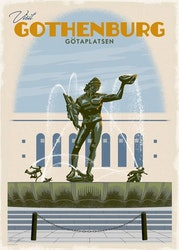 Postcard: Götaplatsen Göteborg, 13x18cm