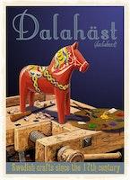 Postcard:  Dalahäst, 13x18cm