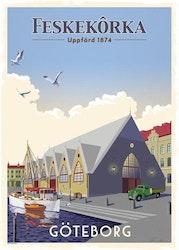 Postcard: Feskekörka Göteborg, 13x18cm