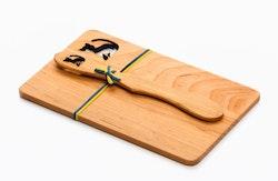 Smörgåsplatta med Smörkniv katt