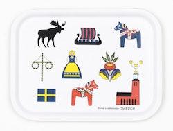 Bricka Sverigesymboler