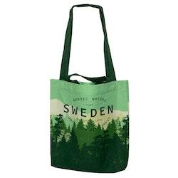 Tygkasse Sweden Backcountry Forest med 2 olika handtagna