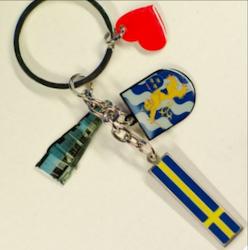 Nyckelring Göteborg vapen, Spårvagn, Svensk flagga