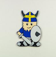 Magnet viking med svärd