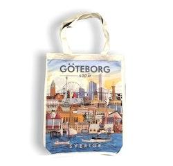 Tygkasse Göteborg 400 år, 33x41cm