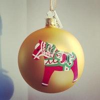 Julgranskula Dalahäst handmålad
