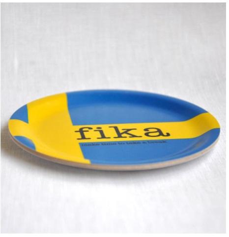 Glasunderlägg kant, Fika och Svensk flagga