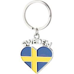 Keychain Sweden heart