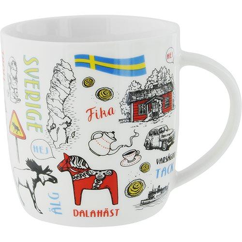 Mugg Sverige teckningar, 37cl