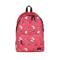 Moomin ryggsäck, mörkrosa körsbär