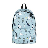 Moomin ryggsäck, ljusblå