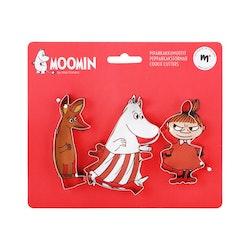 Moomin pepparkaksformar, 3 st i pack