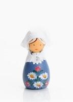 Liten trädocka blå blom