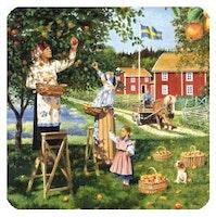 Glasunderlägg, Svenska äpplen