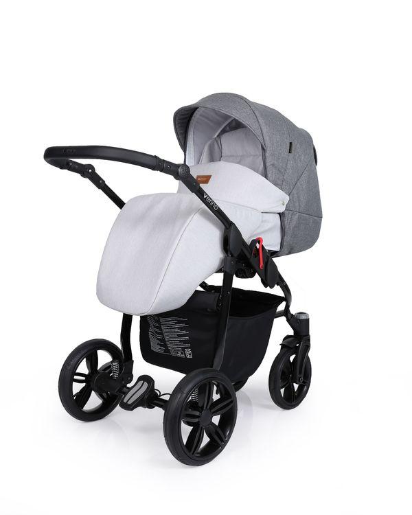 Barnvagn,Liggdel + Bilbarnstol + Sittdel - 3in1 Verino