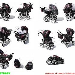 Barnvagn,Liggdel + Bilbarnstol + Babylift - 3in1 KAMIL