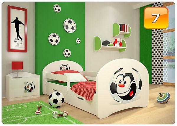 Barnsäng Happy 140x70 med sidoskydd & låda